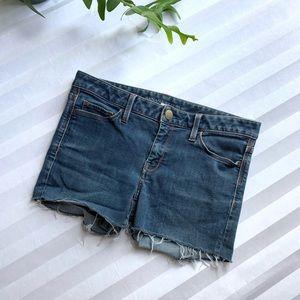 Banana Republic Frayed Denim Shorts